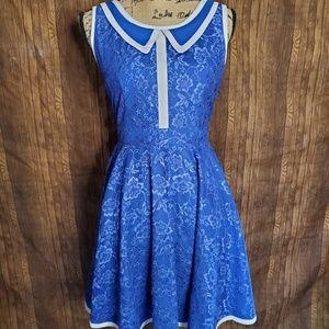 SALE! NWT blue lace minuet dress modcloth